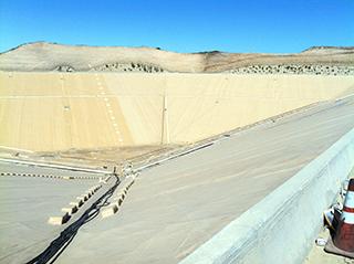 8 million gallon empty reservoir